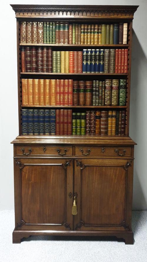 Superb Georgian Mahogany Open Bookcase (1 of 1)