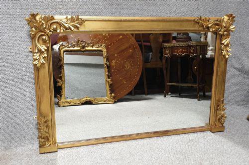 19th Century Gilt Overmantle Mirror (1 of 1)