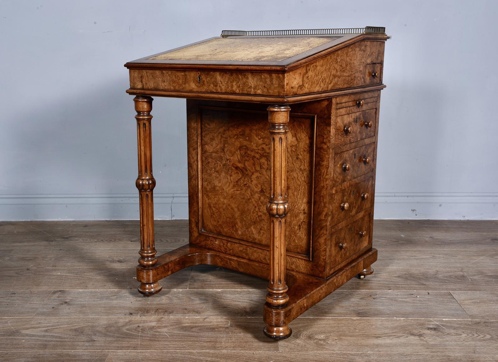 Antique Walnut Davenport Desk (1 of 1)