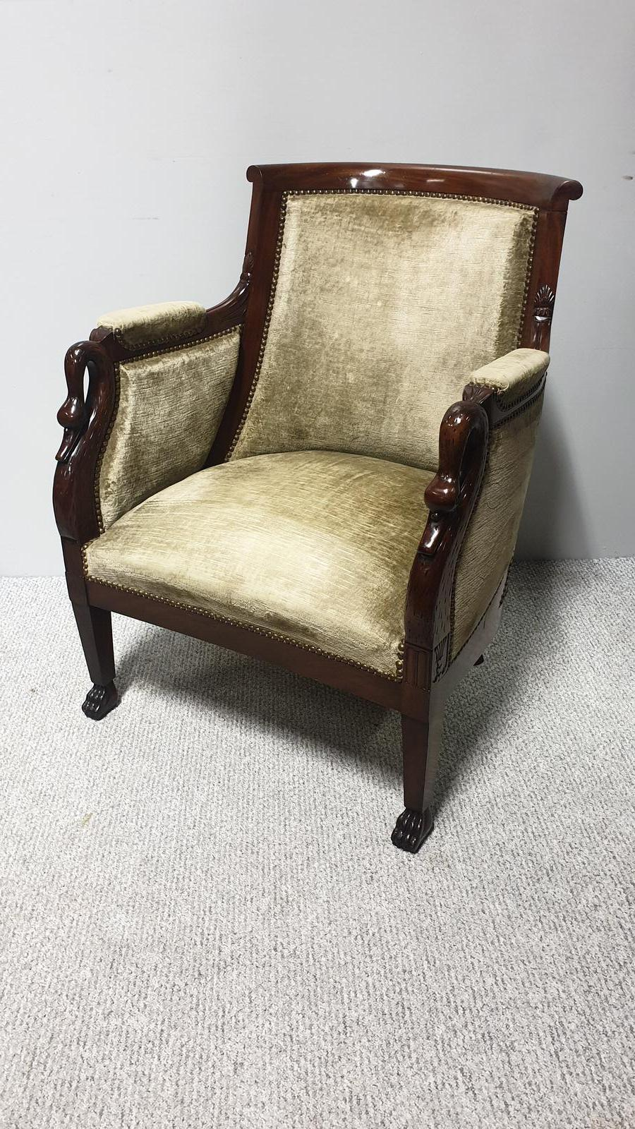 Fabulous French Mahogany Library Chair (1 of 1)
