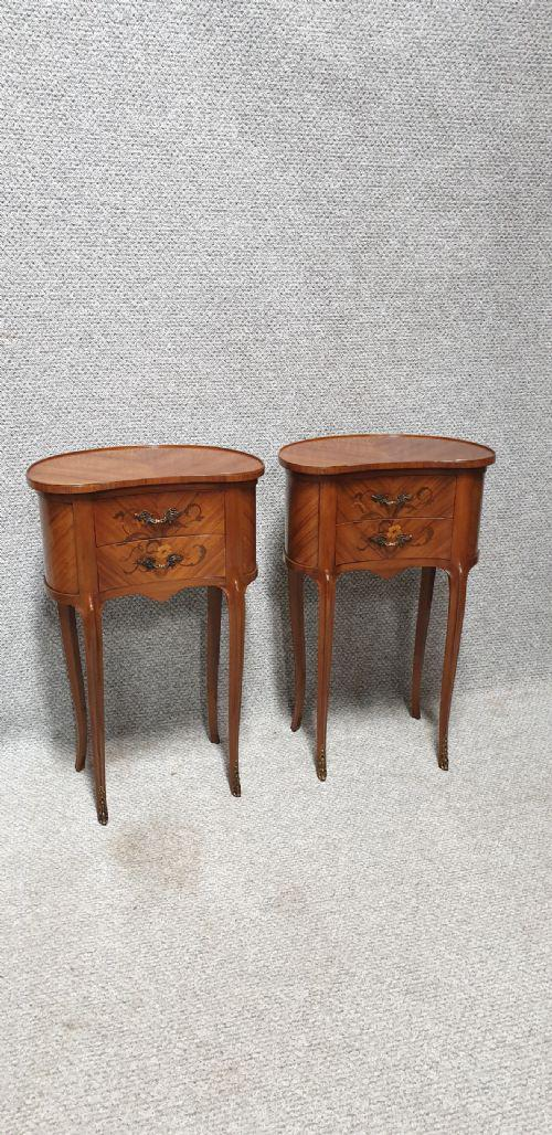 French Kidney shaped Bedside Chest of Drawers (1 of 1)