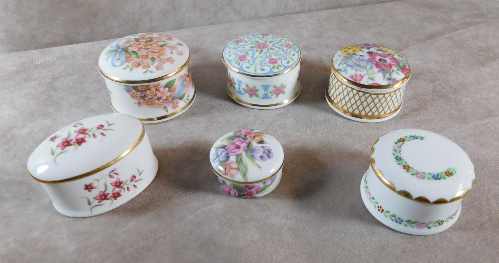 Collection of Six Porcelain Lidded Pots (1 of 1)