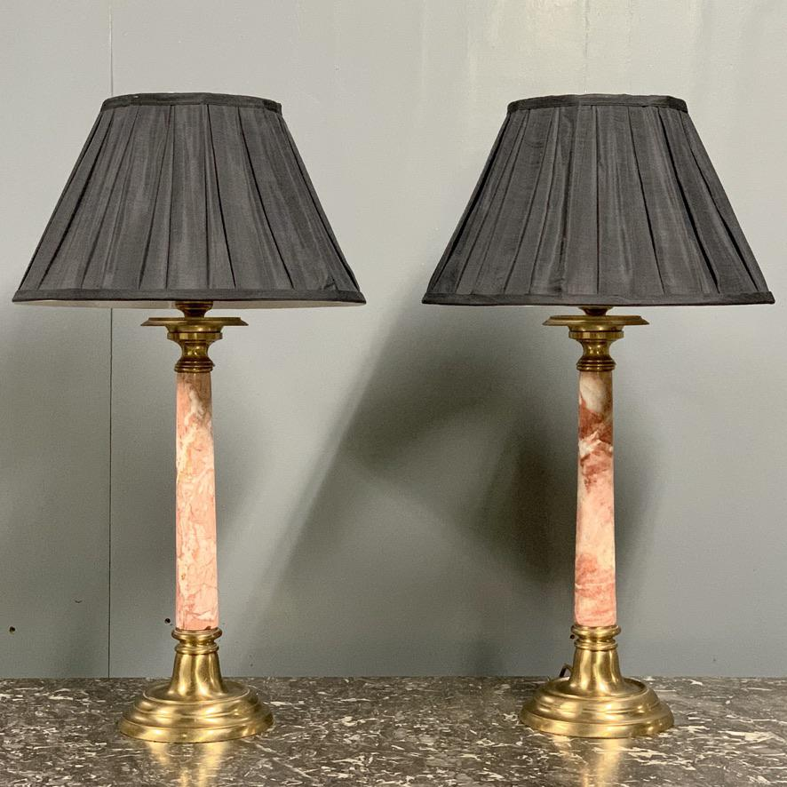 Antique Brass Large Tall Table Lamp