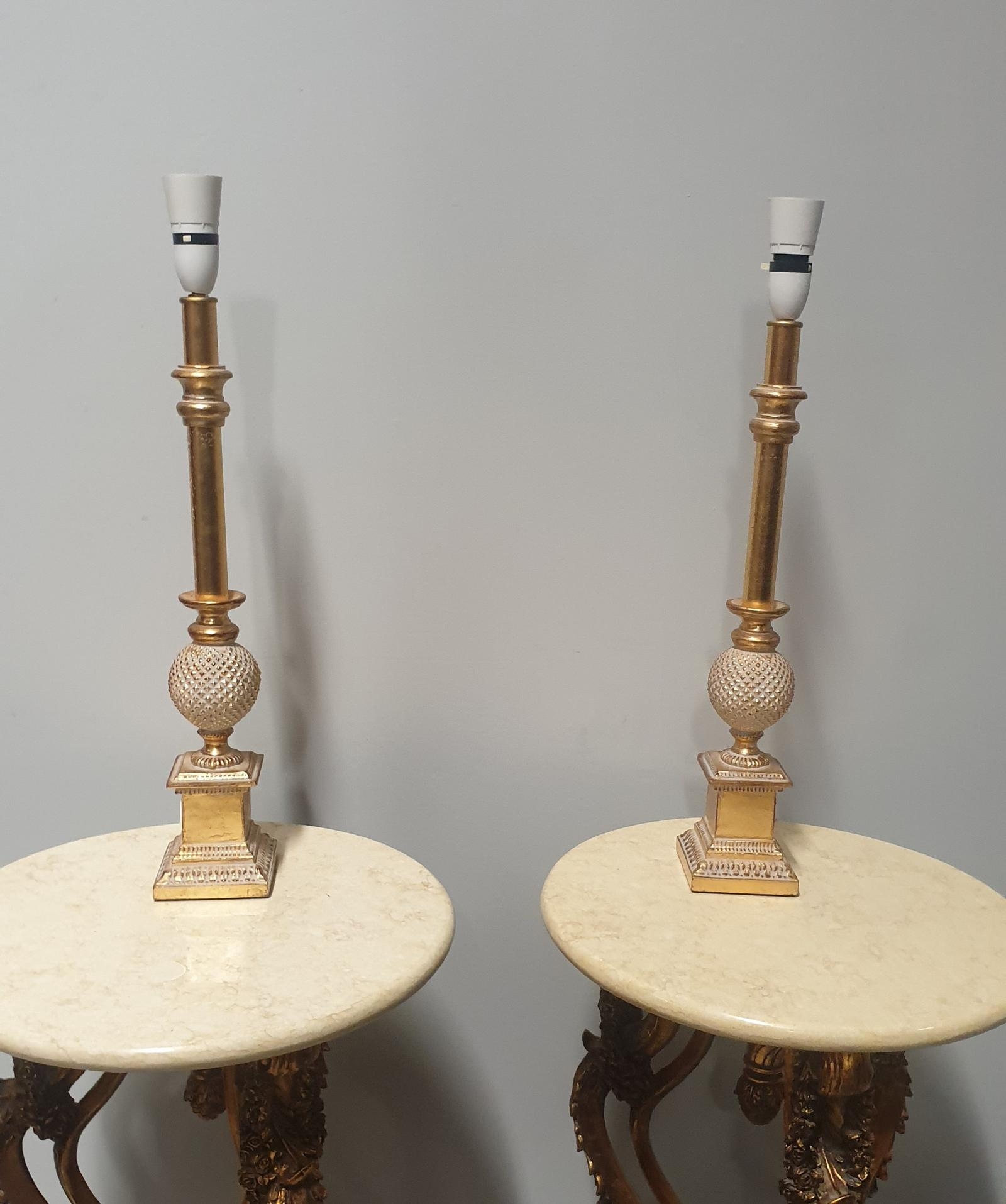 Pair of Gilt Table Lamps (1 of 1)