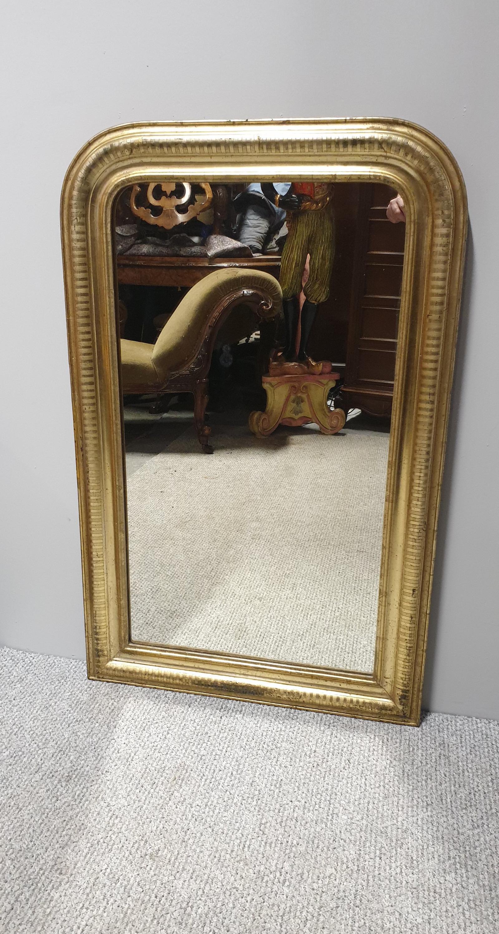 Louis Phillipe Gilt Wall Mirror (1 of 1)