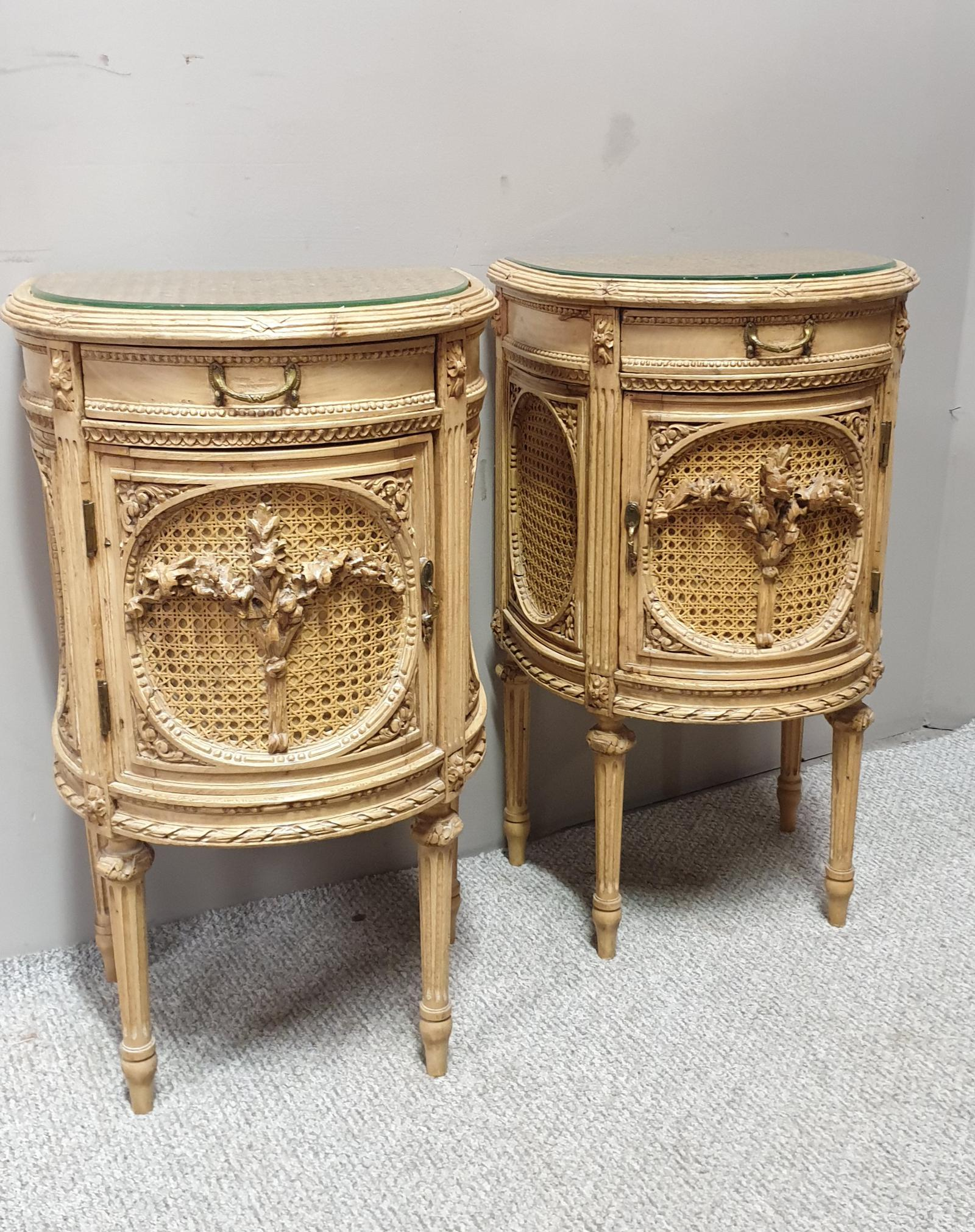 Fabulous French Bergere Bedside Cabinets (1 of 1)