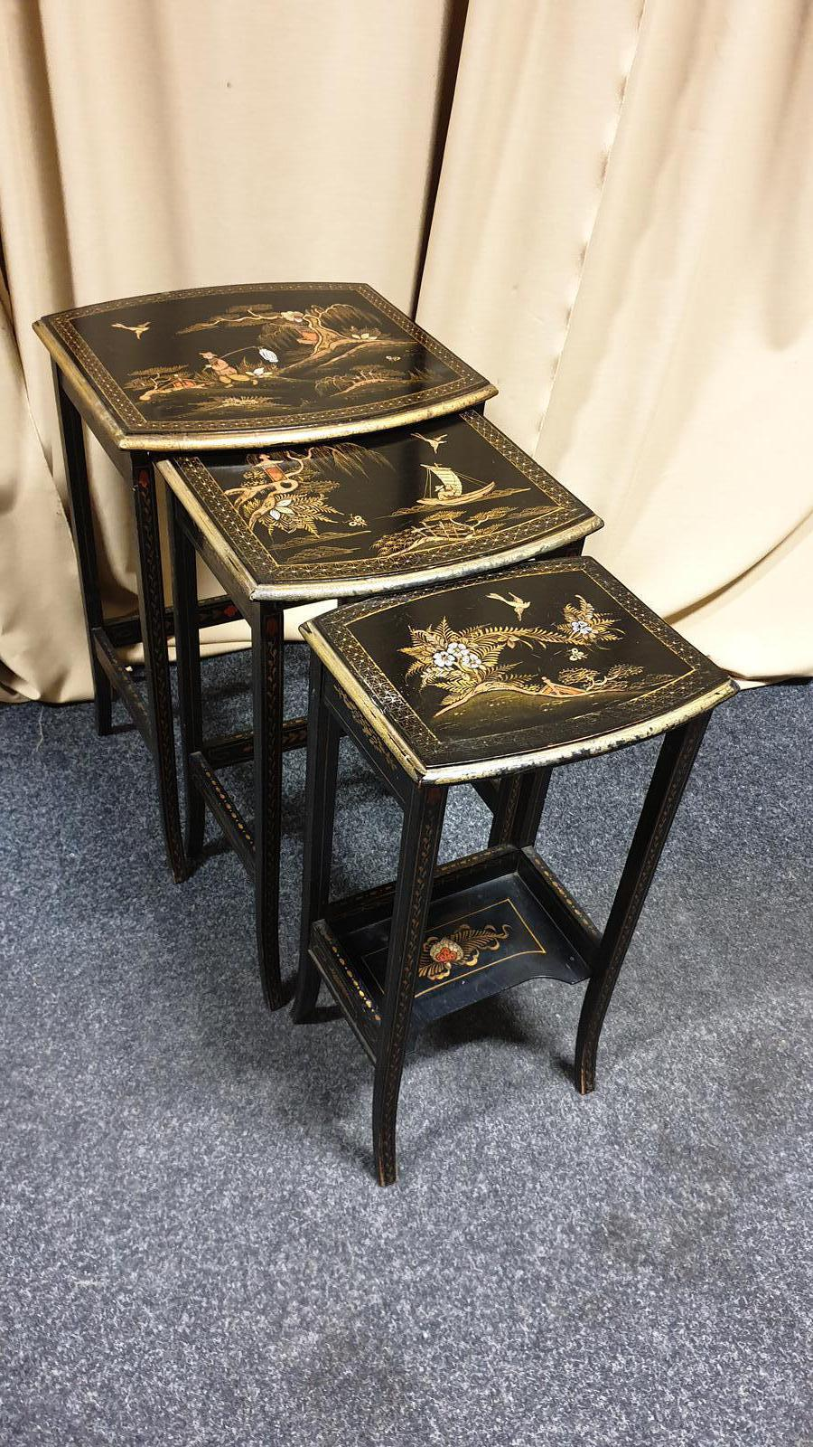 Chinoiserie Nest of Three Tables (1 of 1)