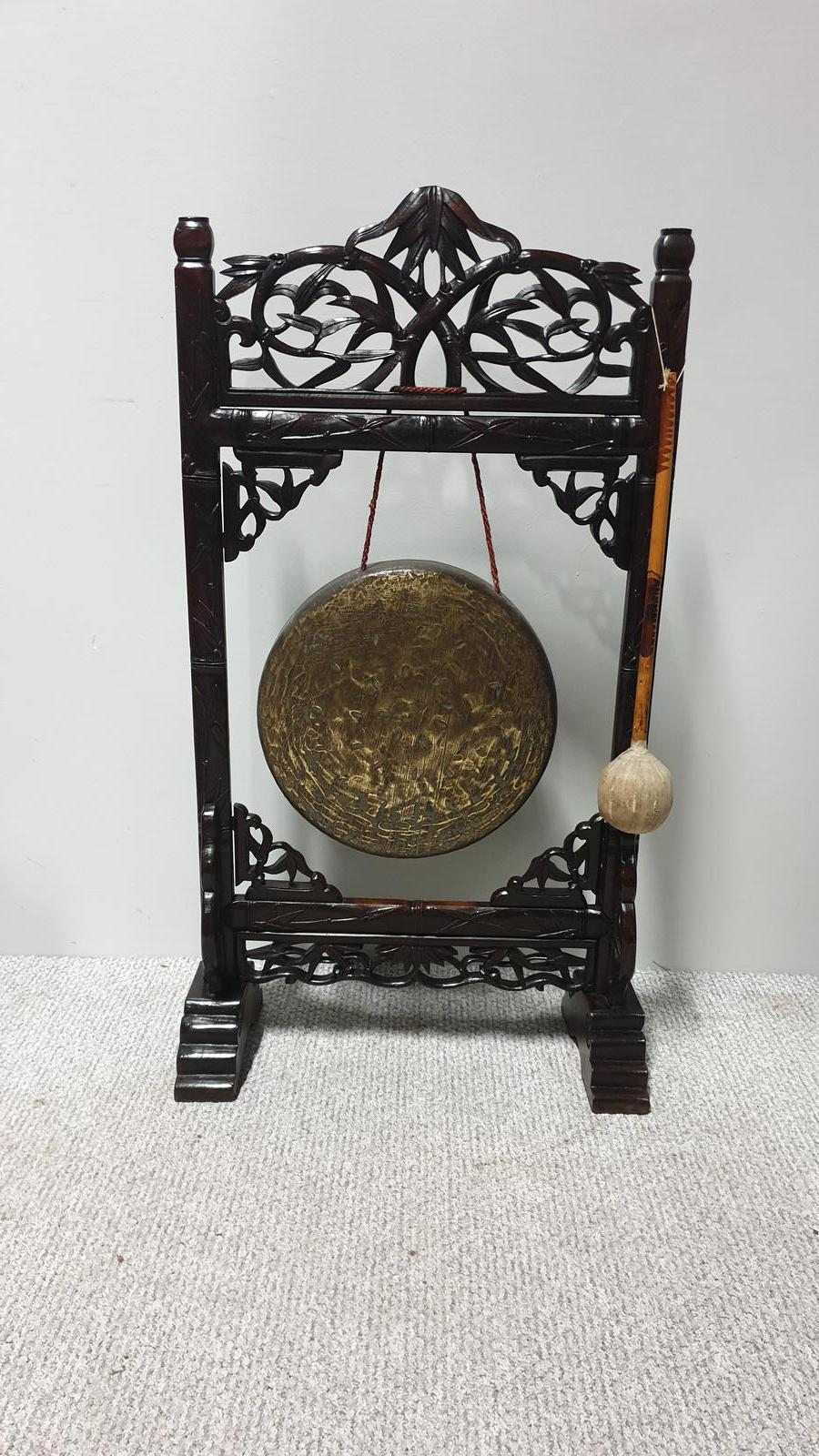 Oriental Gong in Paduke Wood (1 of 1)