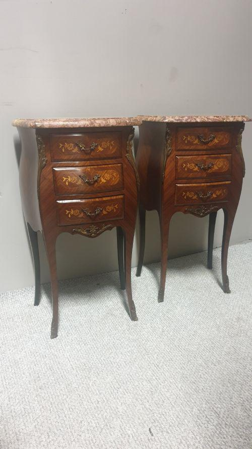 Super Pair of French Bedside Chests of Drawers (1 of 1)