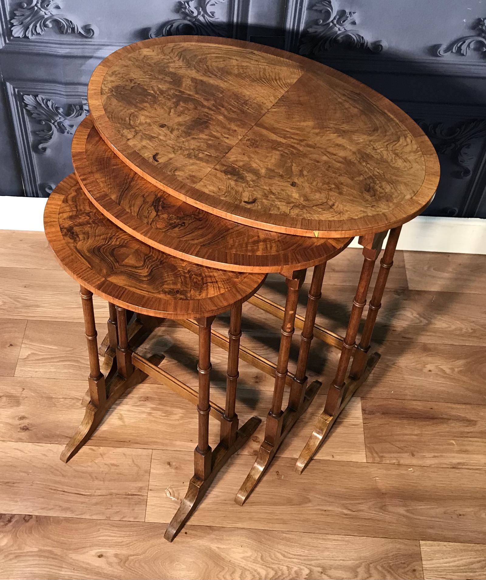 Burr Walnut Nest of Tables (1 of 1)