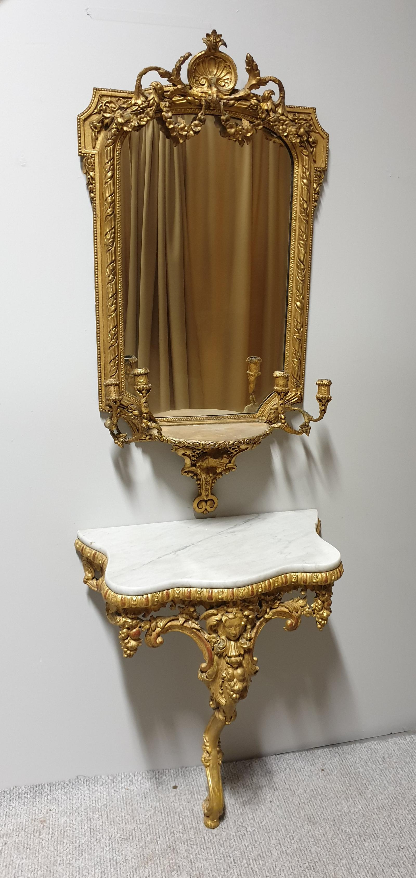 Outstanding 18th Century English Gilt Console Table & Mirror (1 of 1)