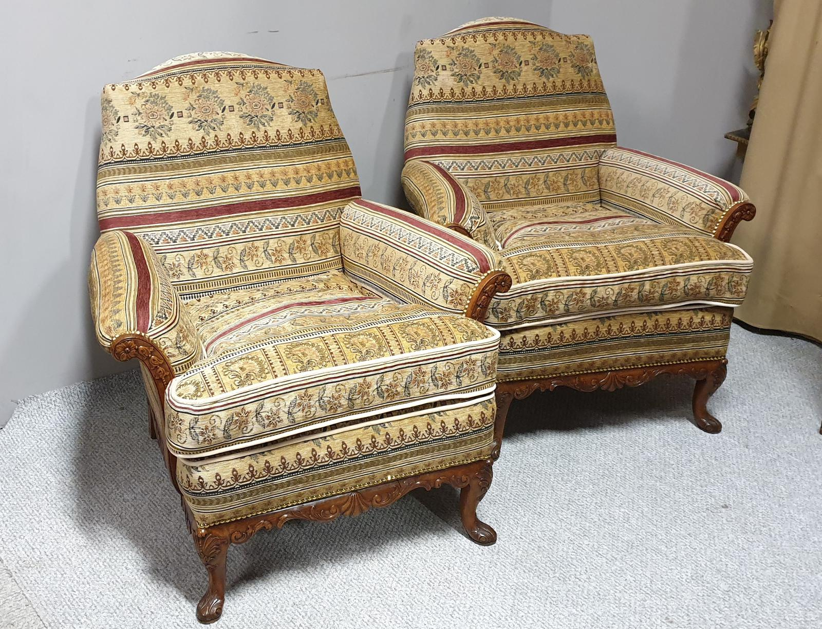 Outstanding Pair of English Armchairs (1 of 1)