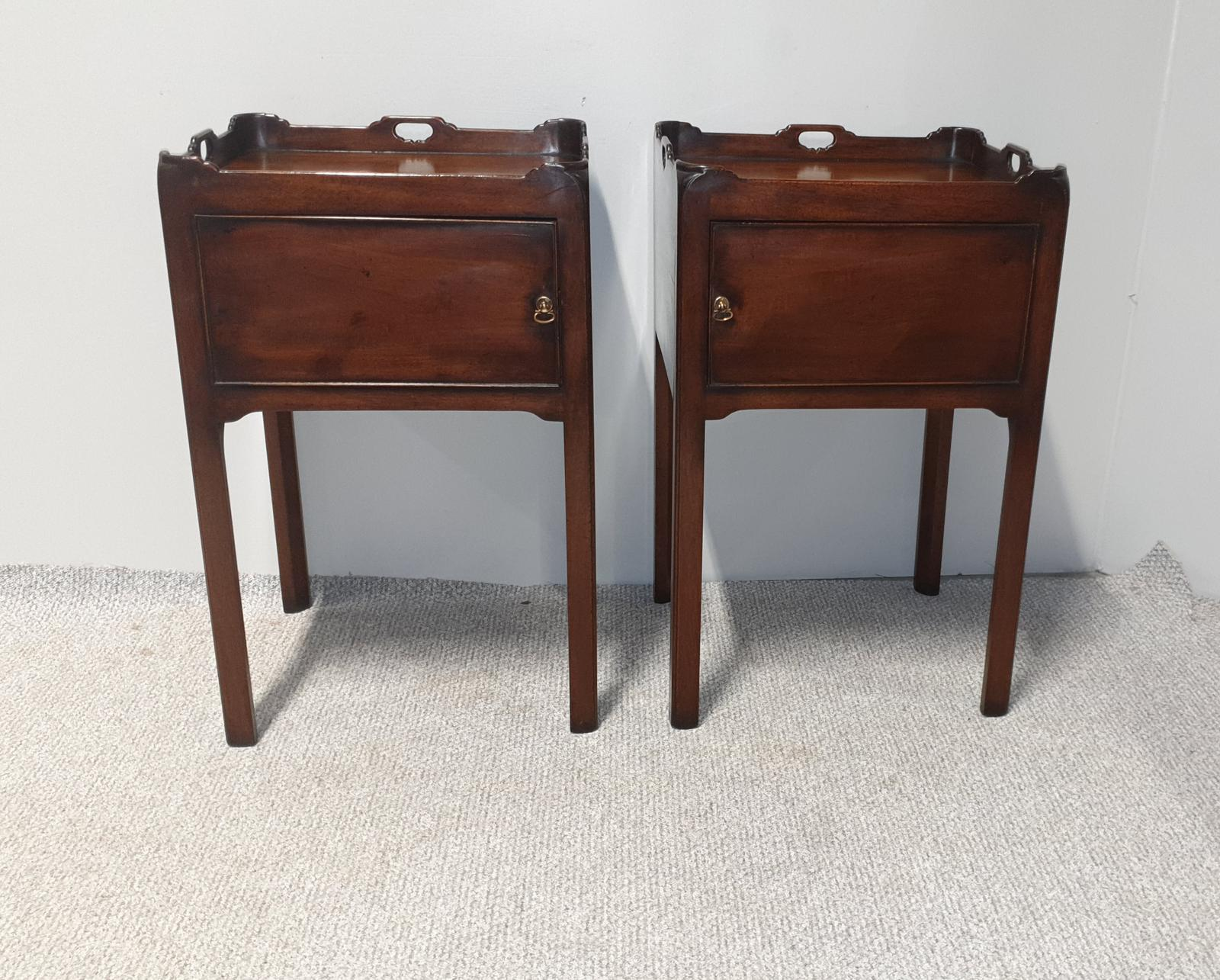 Pair of George III Bedside Cabinets (1 of 1)