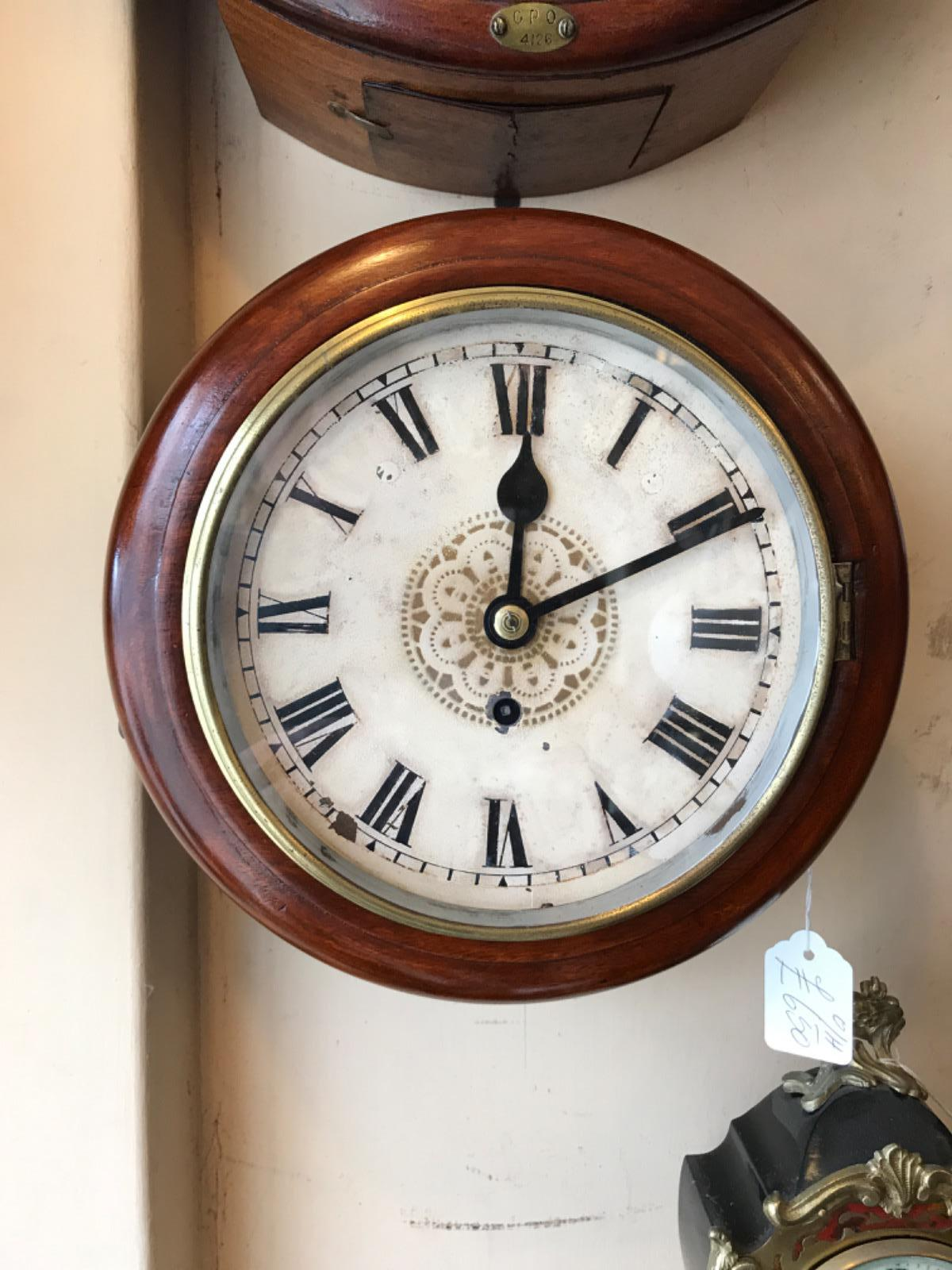 Small Fusee Wall Dial Clock (1 of 1)