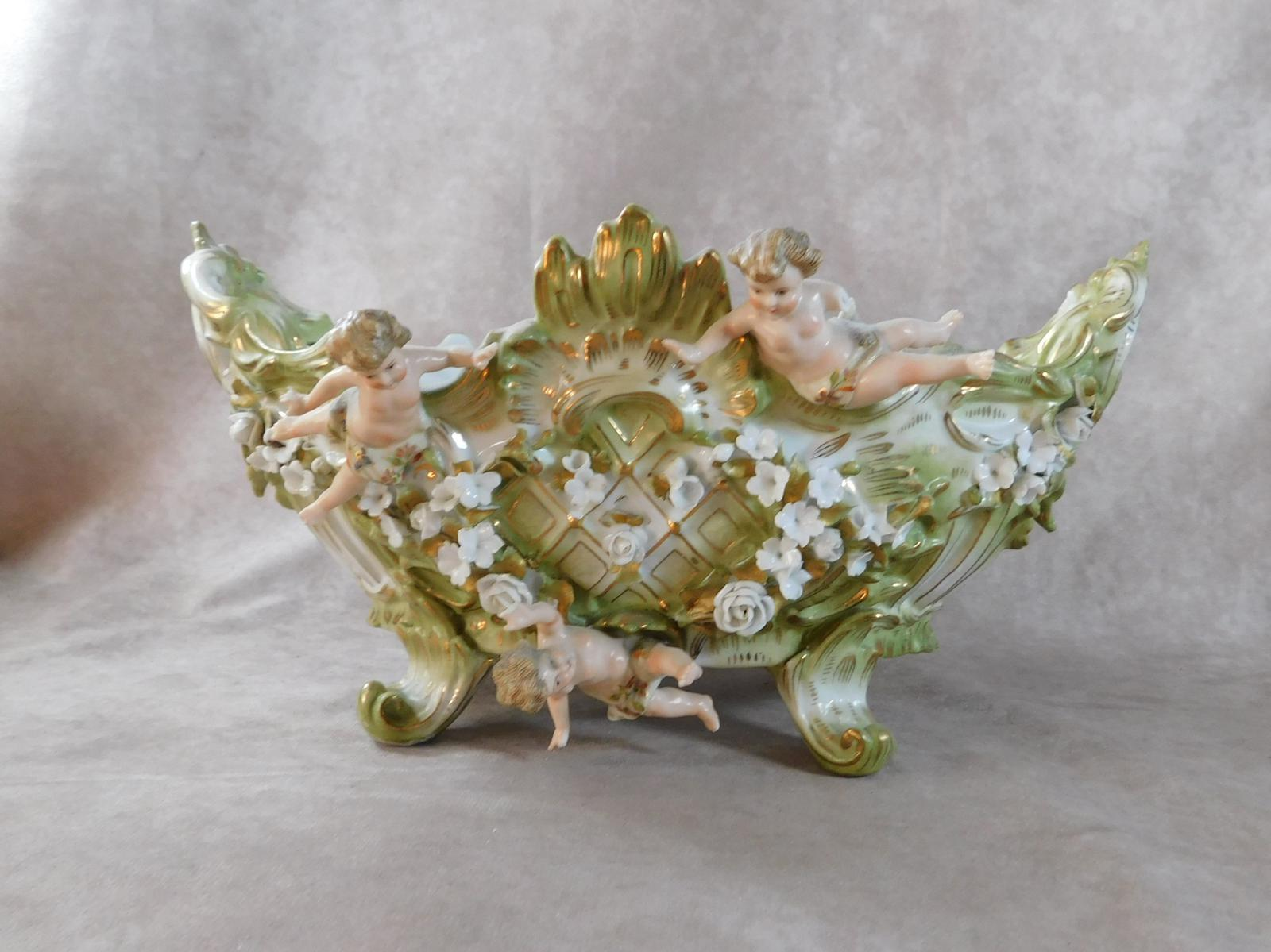 19th Century Rococo Style Trough Decorated with Putti (1 of 1)