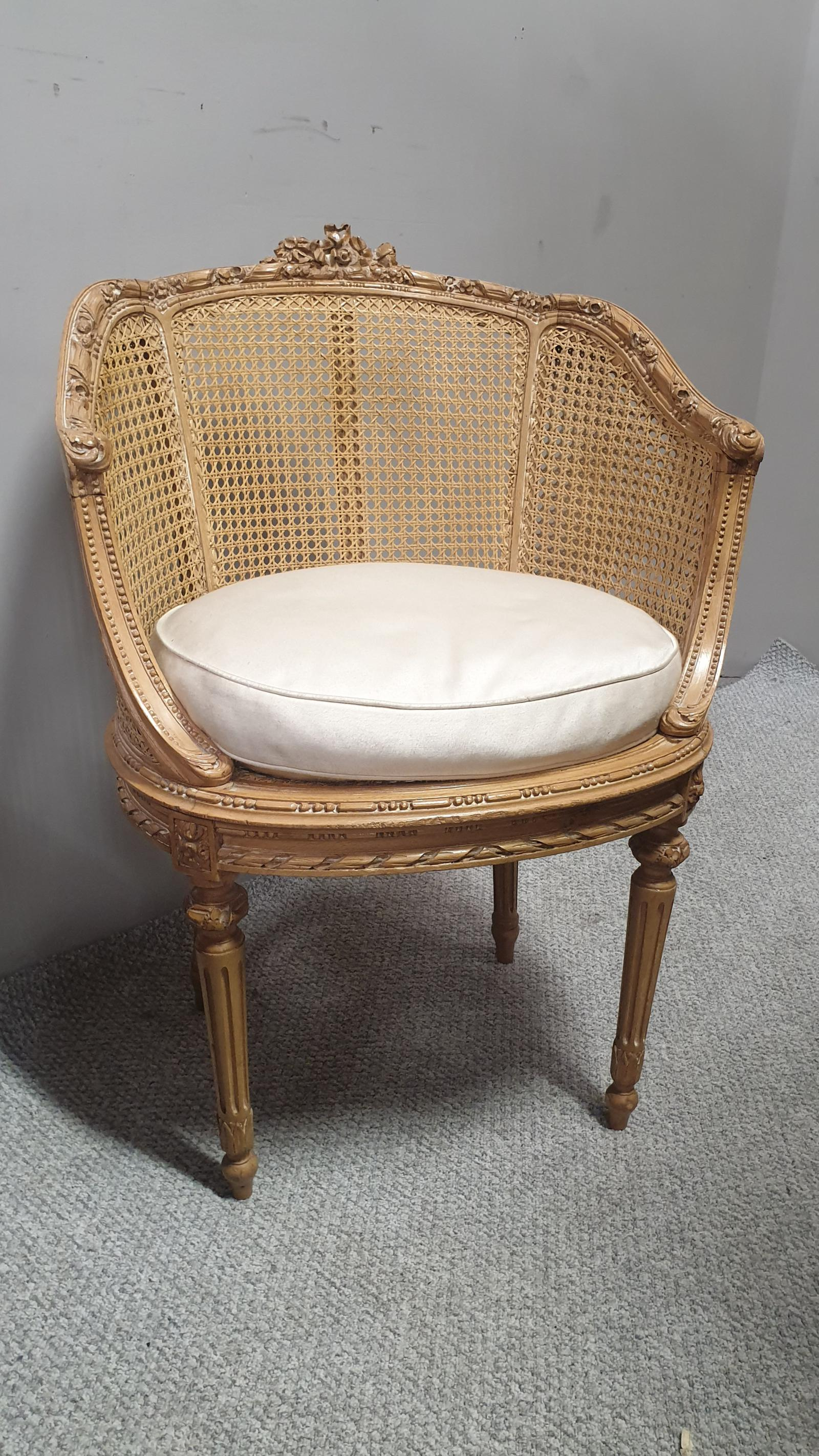 Very Nice French Bergere Tub Chair (1 of 1)