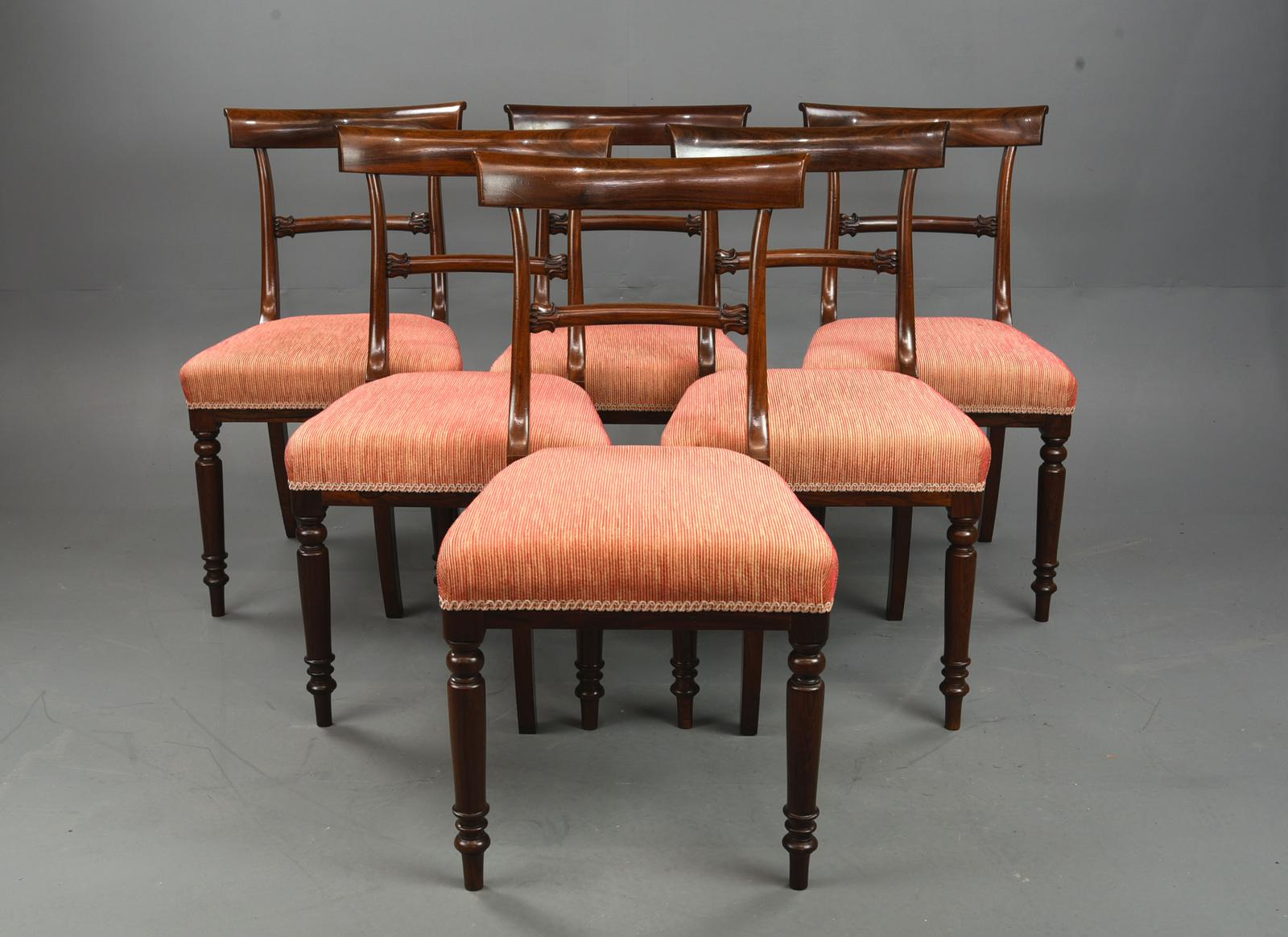 Set of 6 Regency Rosewood Bar Back  Dining Chairs (1 of 1)
