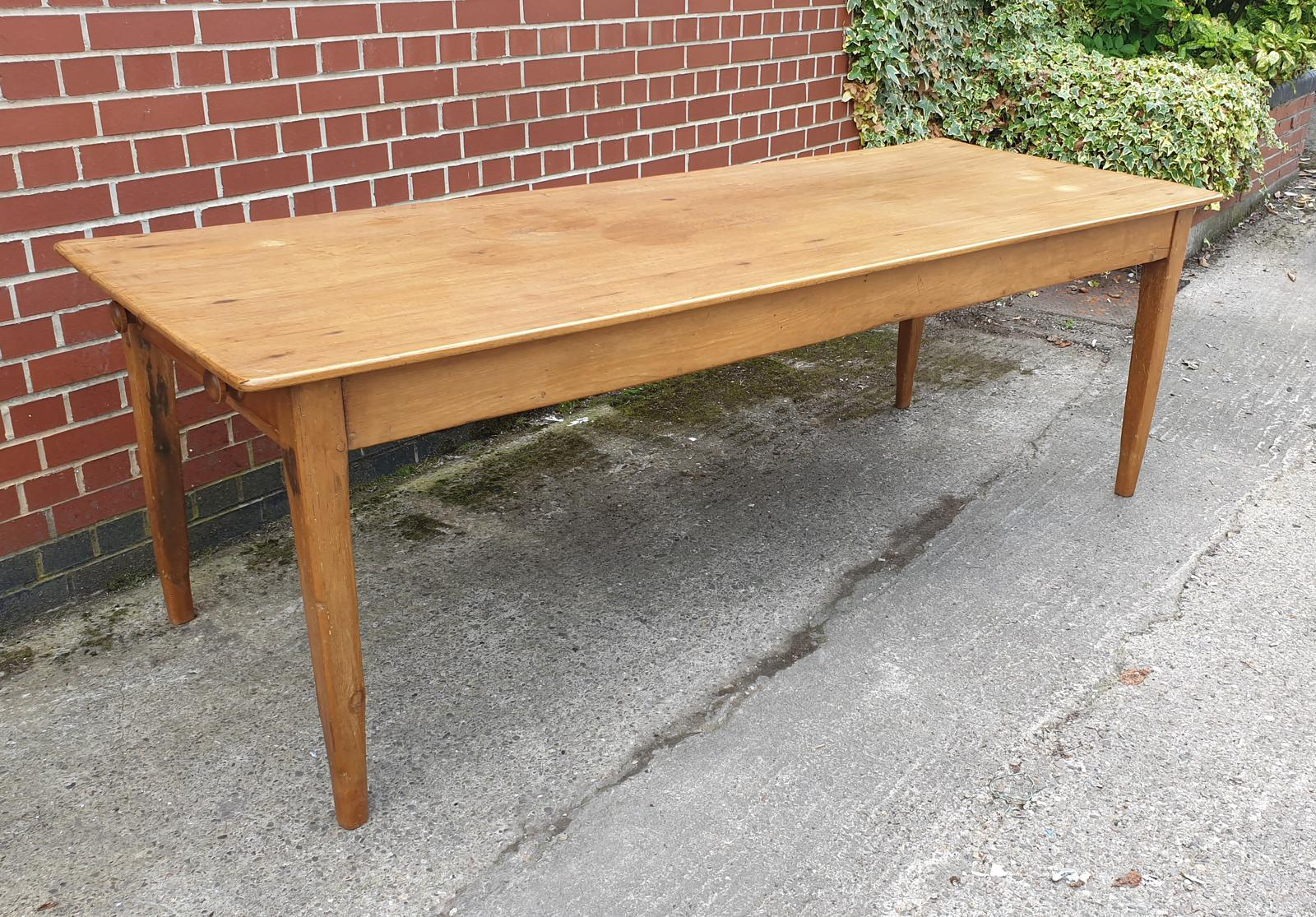 French Fruitwood Kitchen Dining Table (1 of 1)