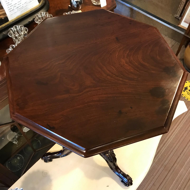 Lovely Quality Octagonal Mahogany Tripod Table (1 of 1)