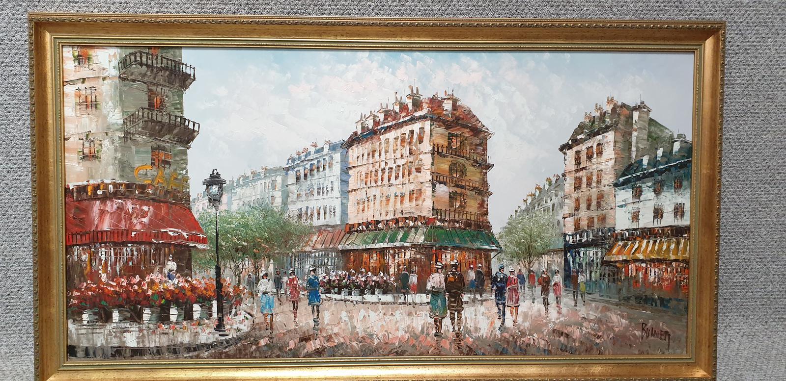 Large French Scene Oil Painting 'Burnett' (1 of 1)