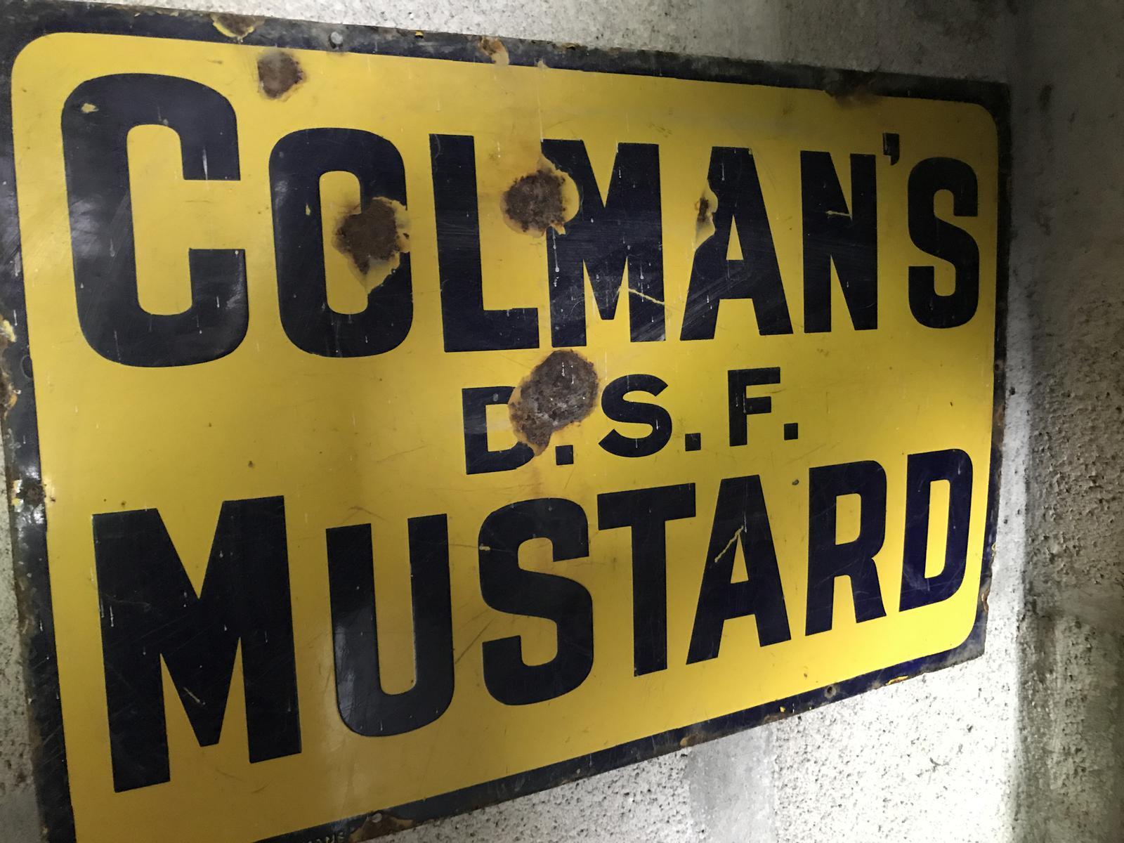 Original Colman'S Enamel Sign (1 of 1)