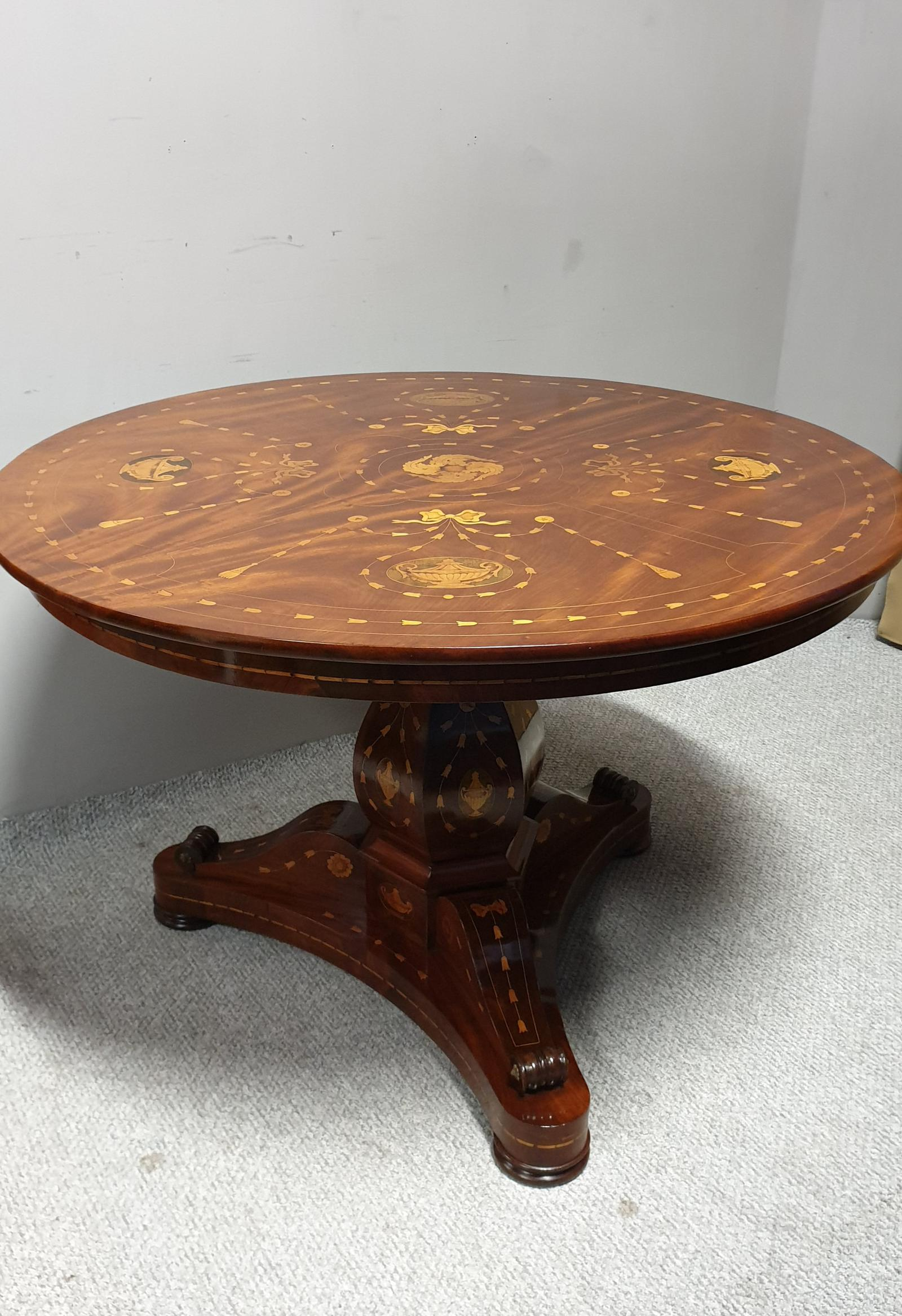 Superb French Marquetry Center Dining Table (1 of 1)