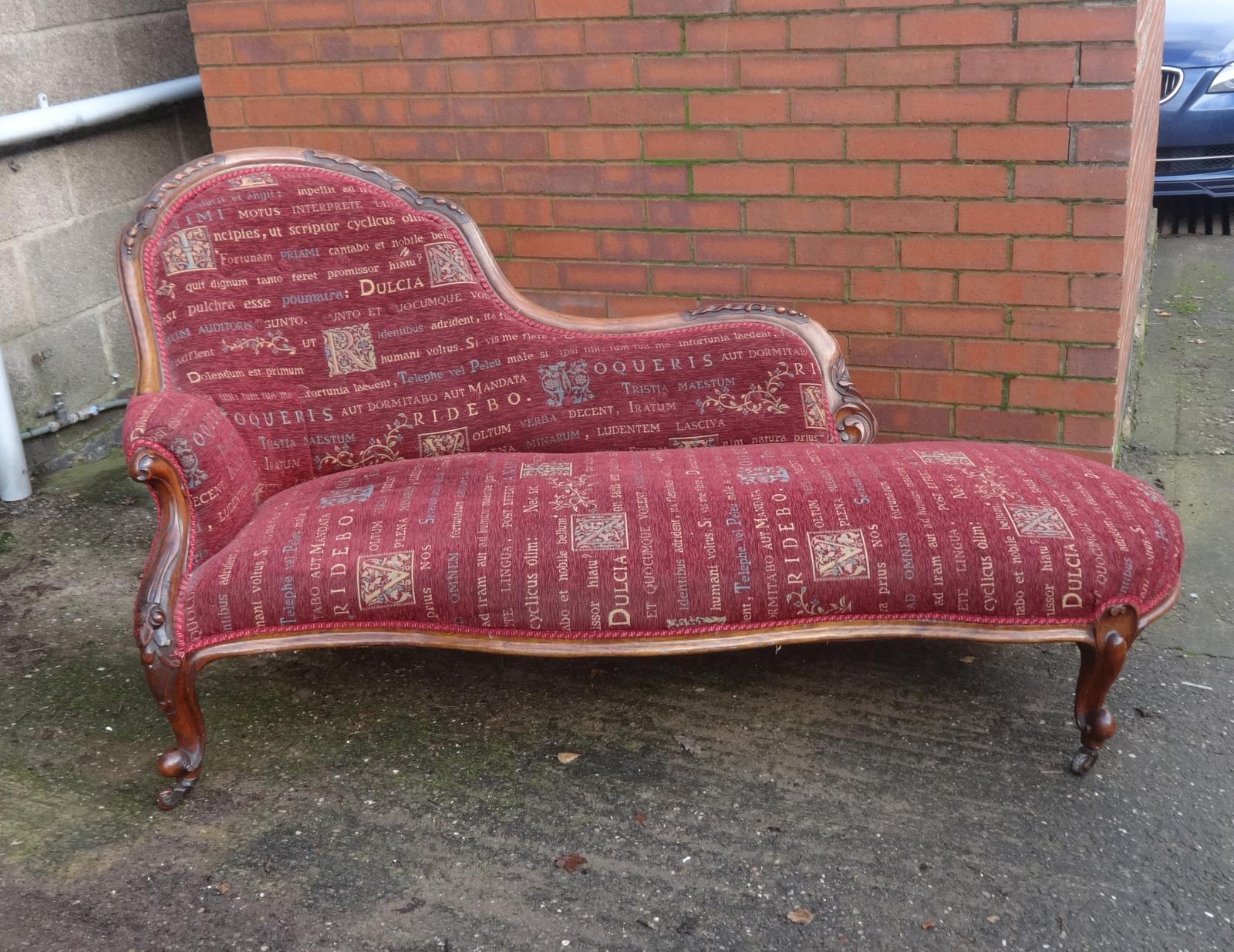 Excellent Quality Mahogany Chaise Lounge (1 of 1)