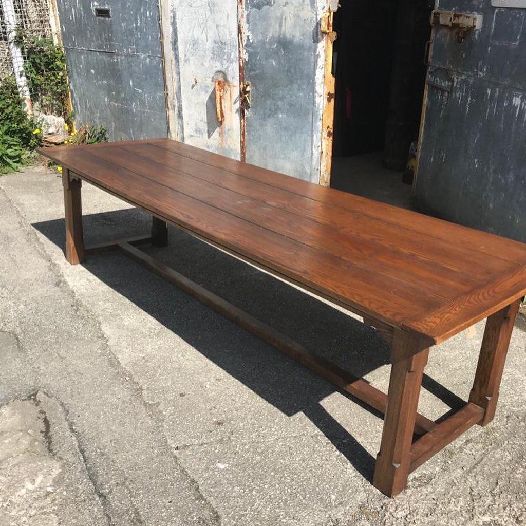 Large 3m Solid Oak Refectory Table (1 of 1)