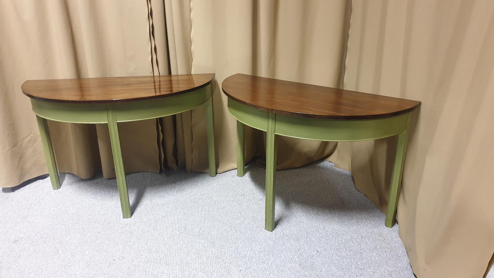 Pair of Regency Mahogany Console Tables (1 of 1)