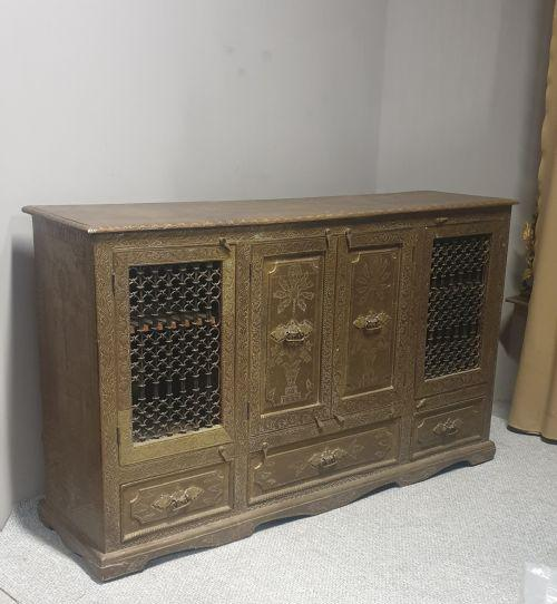 Outstanding Brass Side Cabinet Console (1 of 1)