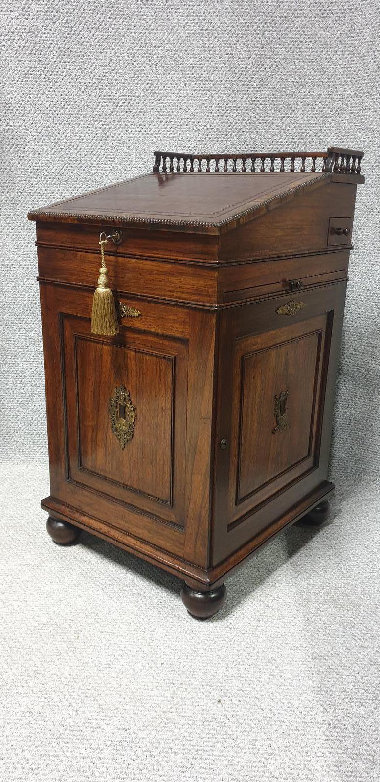 Top Quality Regency Rosewood Davenport Desk (1 of 1)