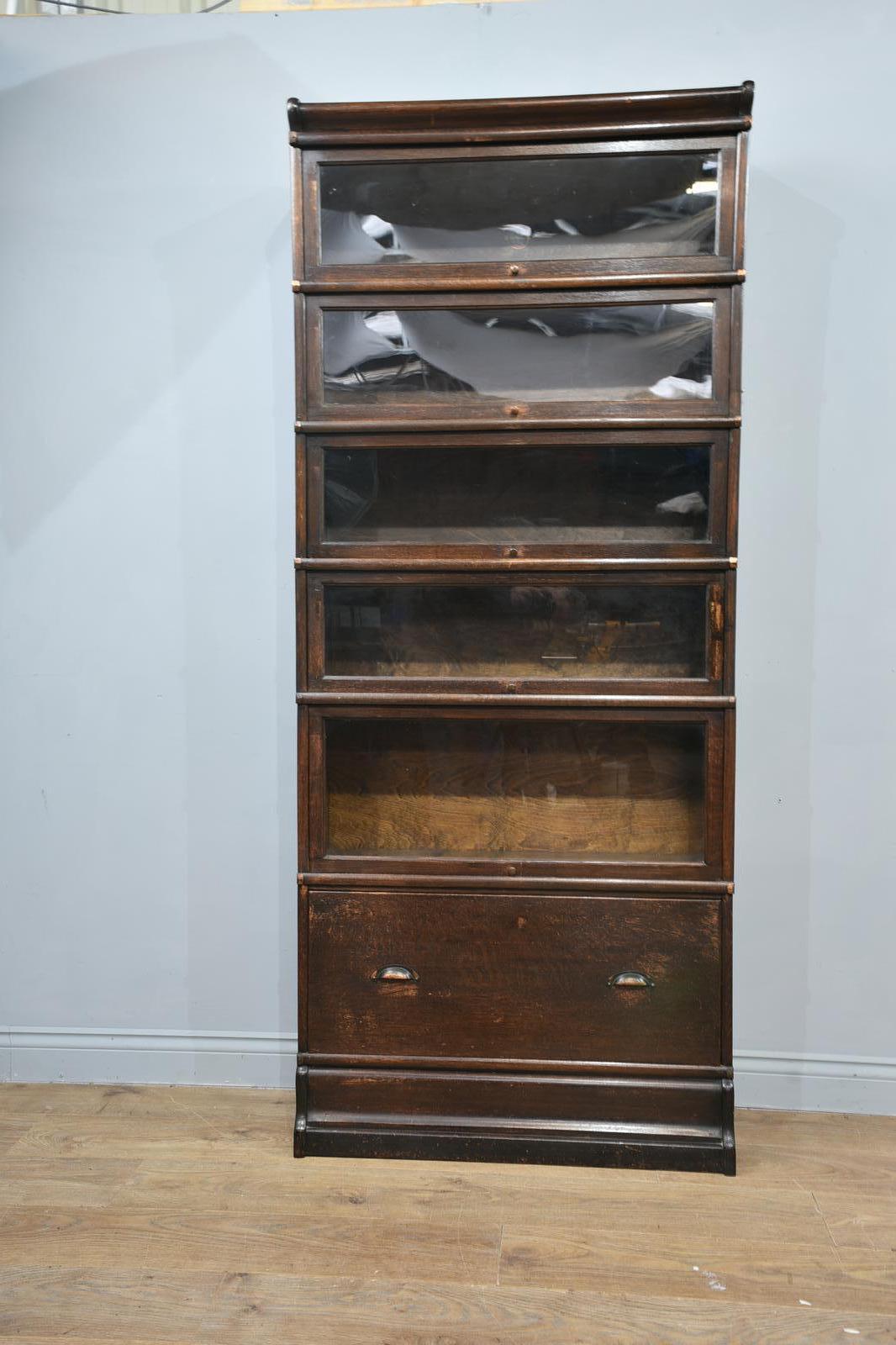 Antique Oak Globe Wernicke Bookcase (1 of 1)