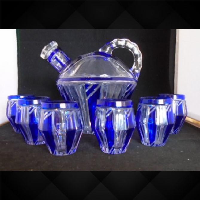 Art Deco Liqueur Carafe & Six Glasses by Karl Palda (1 of 1)