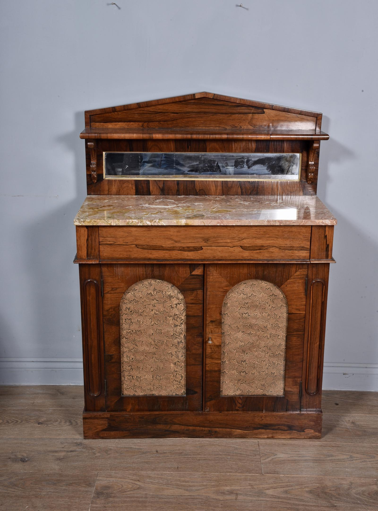 Antique Regency Rosewood Marble Top Chiffonier Side Cabinet (1 of 1)