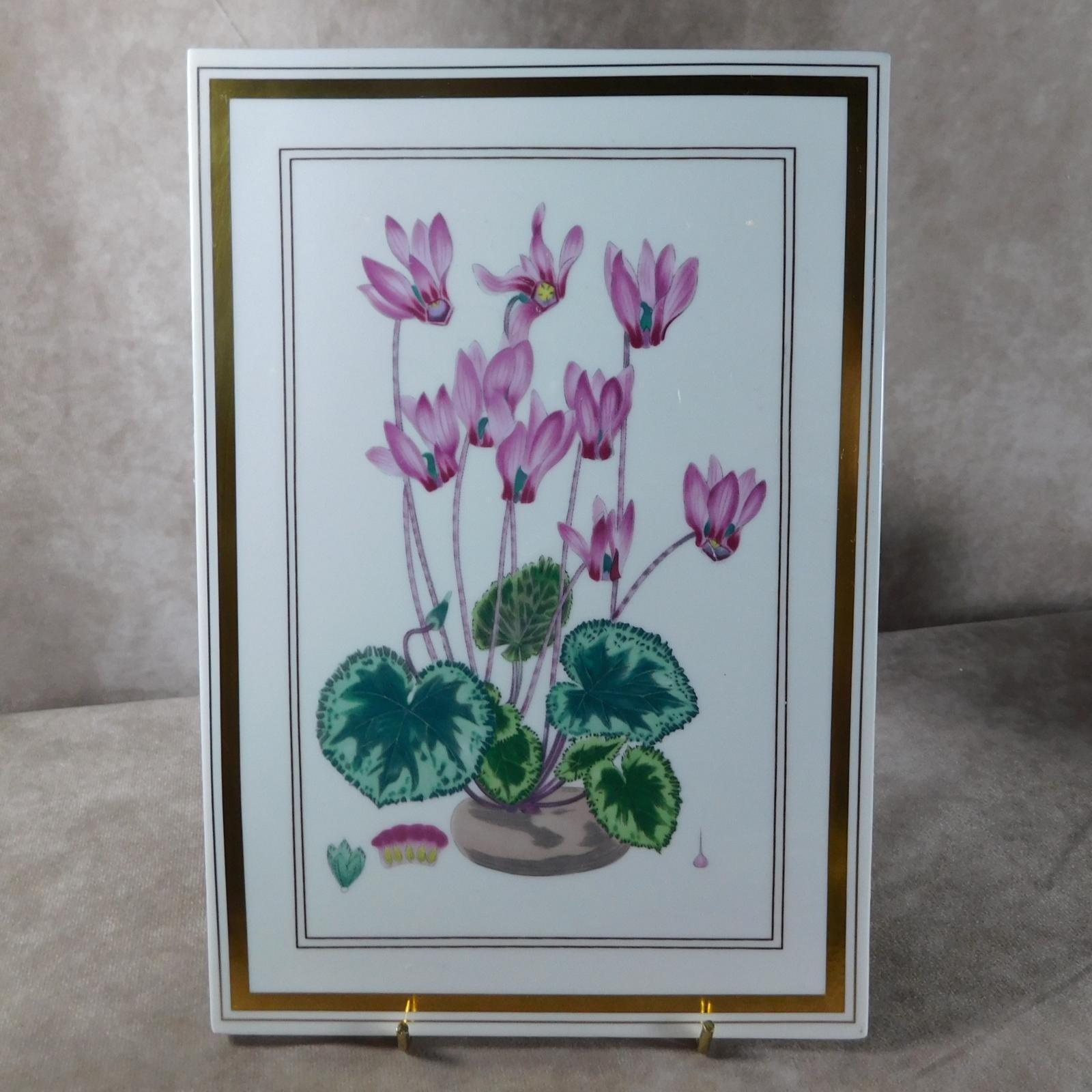 """Royal Worcester """"Botanicals"""" Plaque (1 of 1)"""