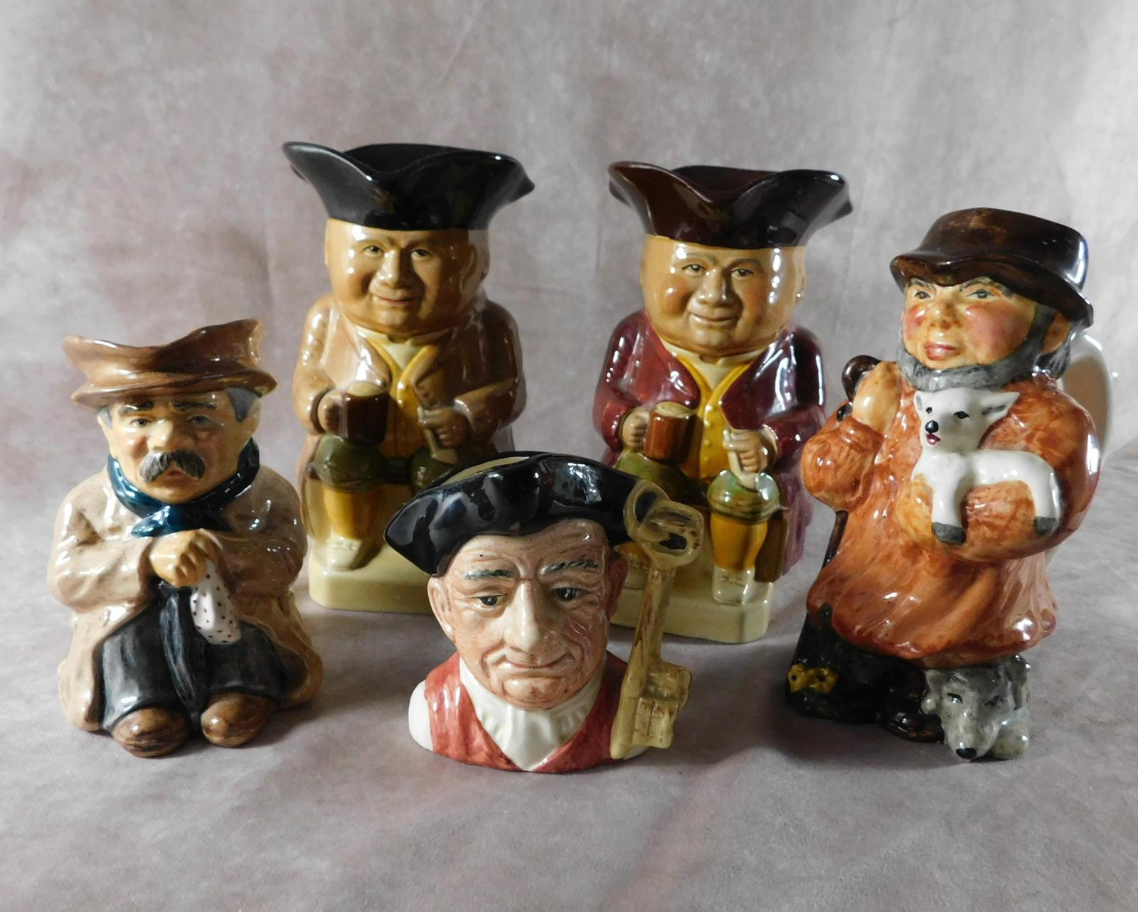 A Group of Five Character & Toby Jugs (1 of 1)