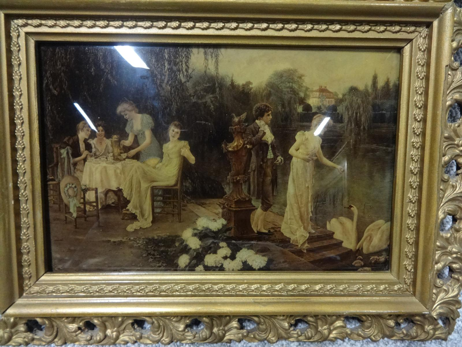 Pair of C19th Chrystoleums in Period Gilt Frames (1 of 1)