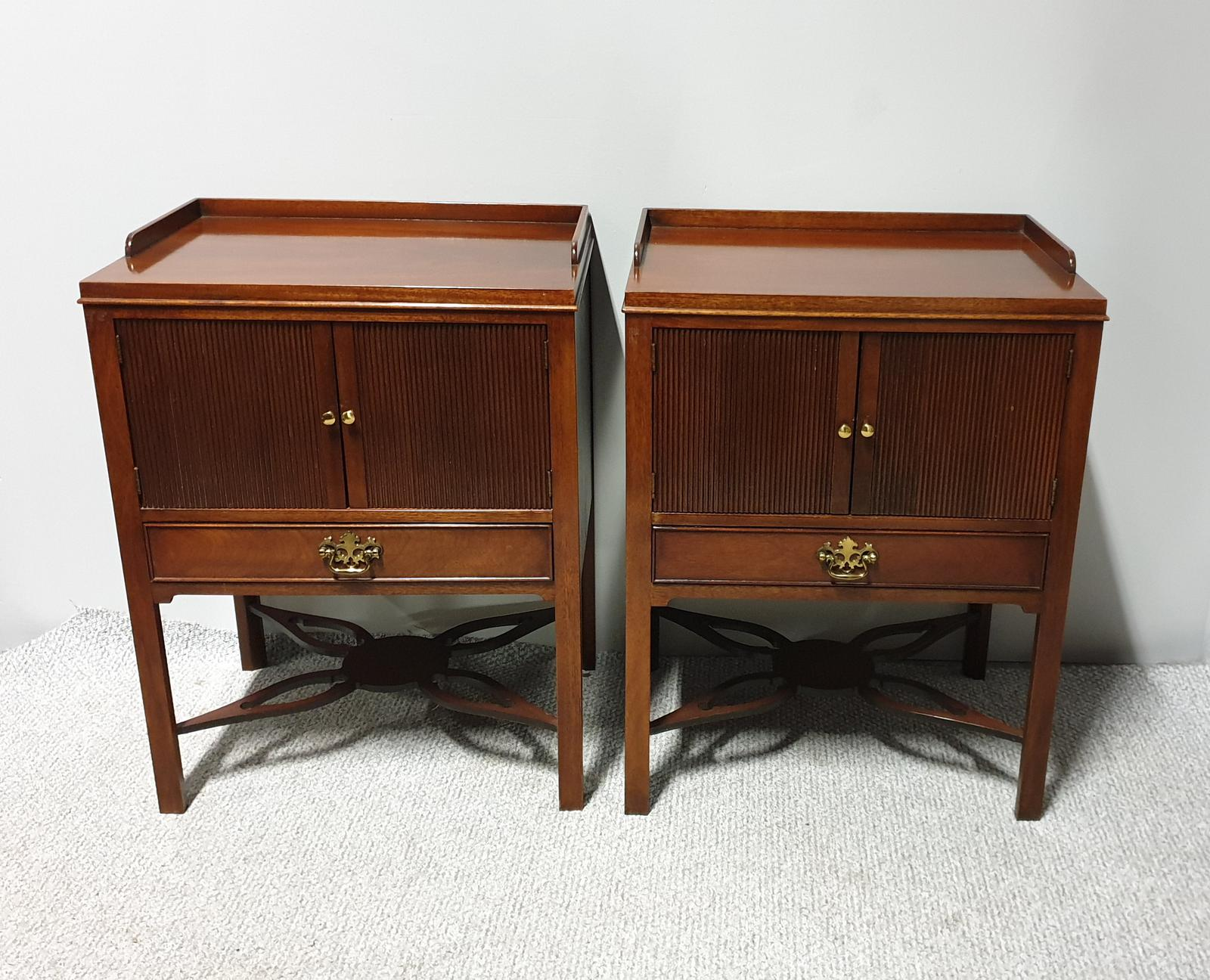 Pair of Mahogany Bedside Cabinets (1 of 1)