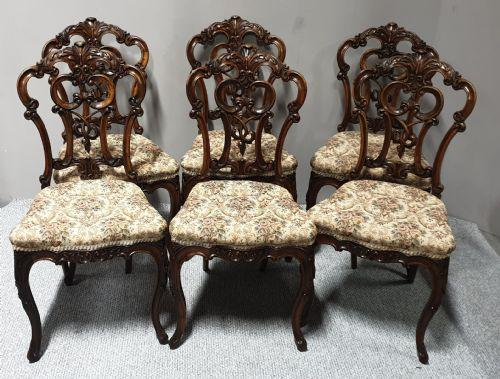 Set of  Victorian Walnut Dining Chairs (1 of 1)