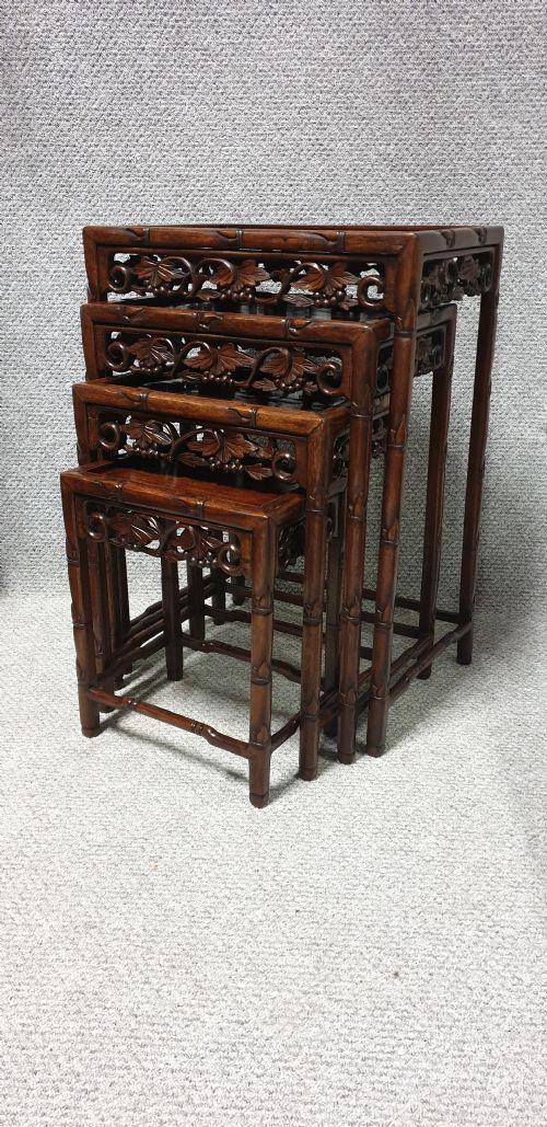 Oriental Rosewood Quartetto Nest of Tables (1 of 1)