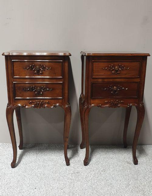 Pair of French Bedside Cabinets (1 of 1)