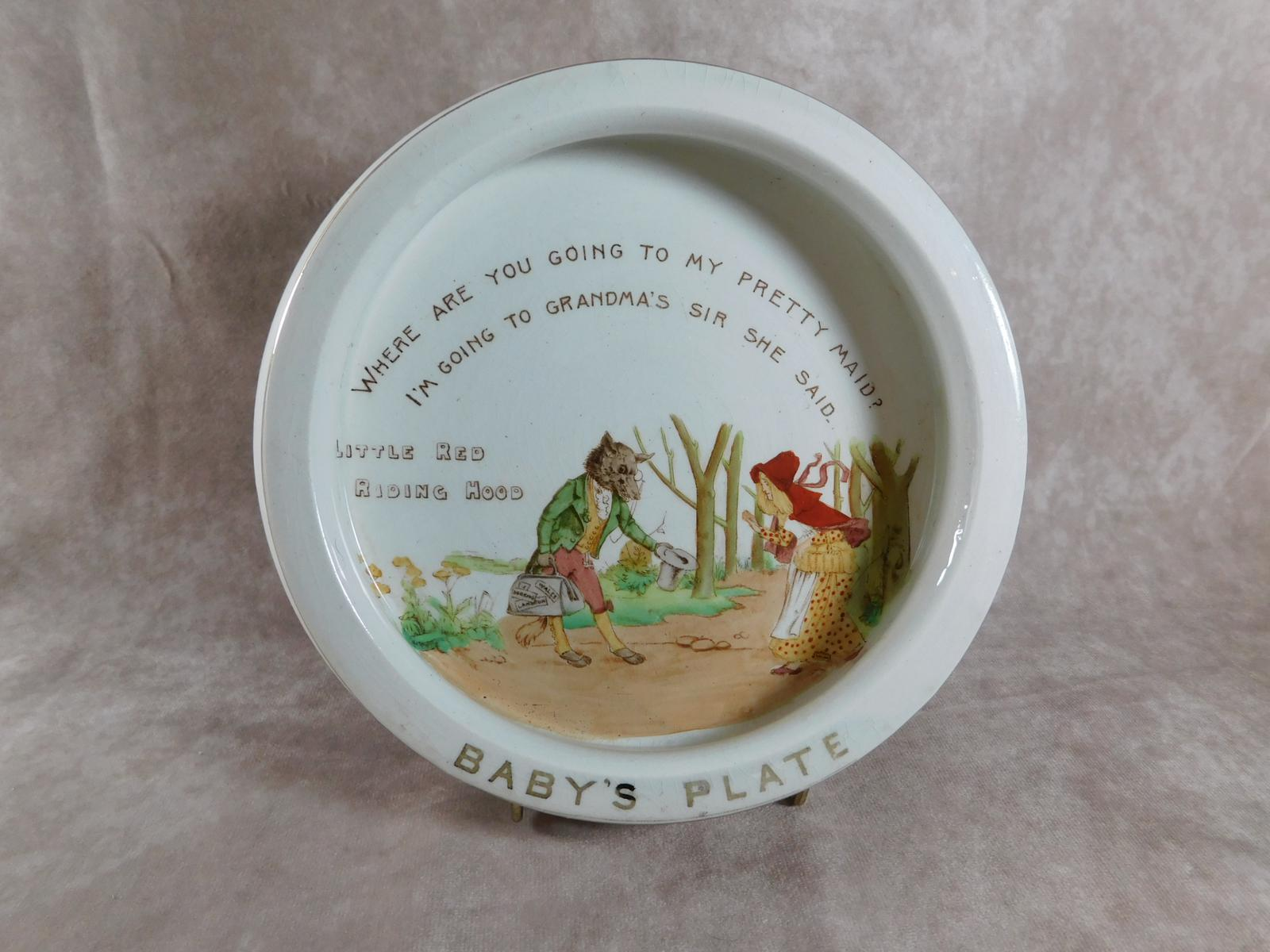 Little Red Riding Hood Babies Plate by Shelley (1 of 1)