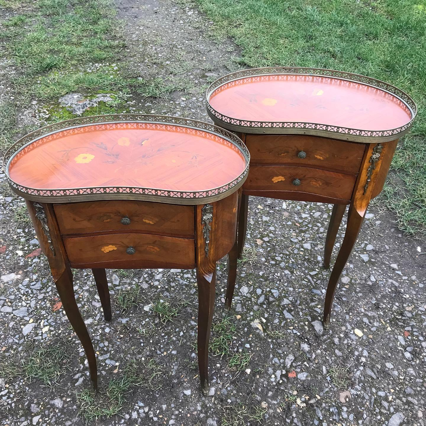 Pair of Inlaid Bedside Cabinets (1 of 1)