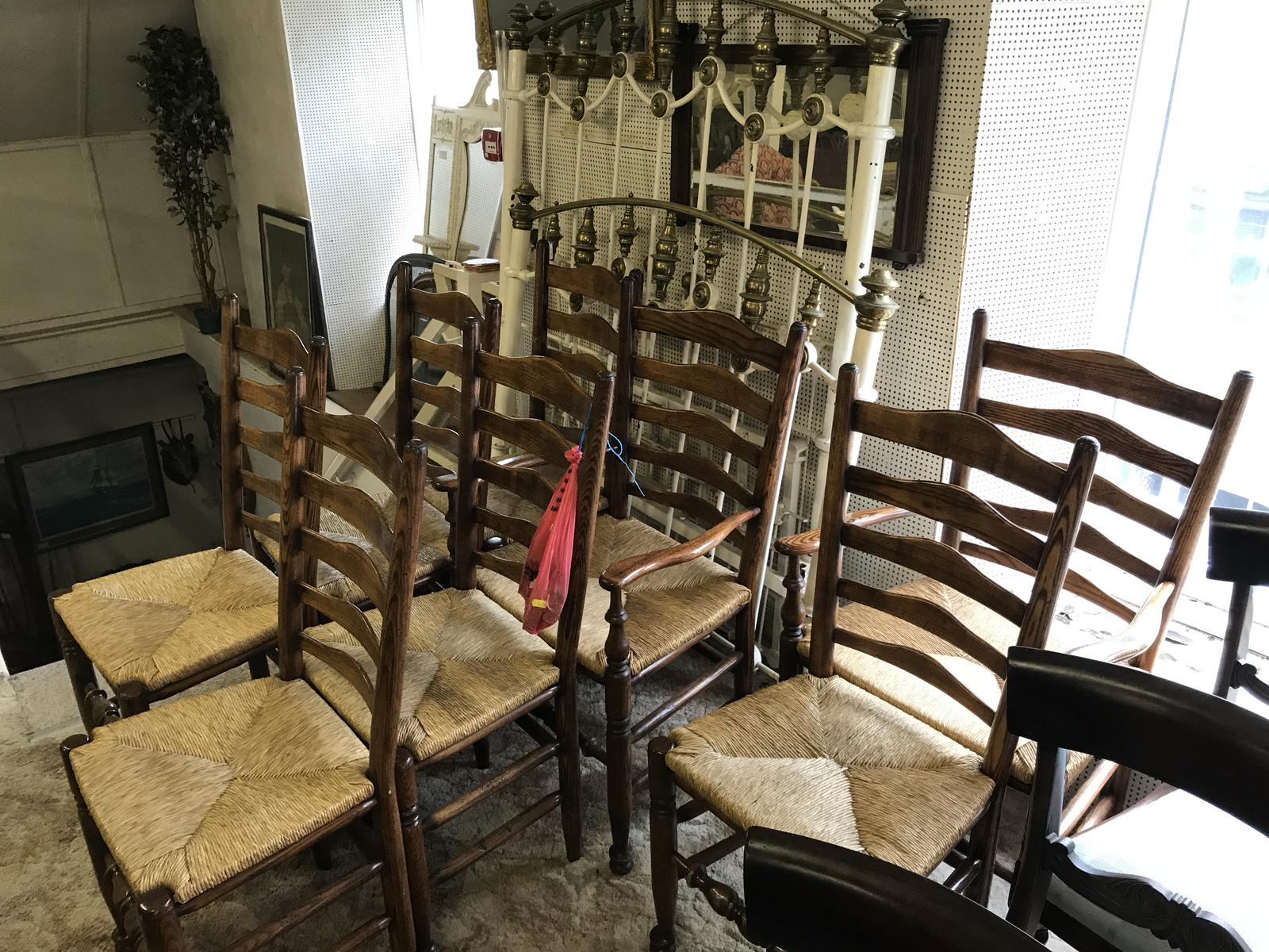 Set of 8 Ladderback Chairs (1 of 1)