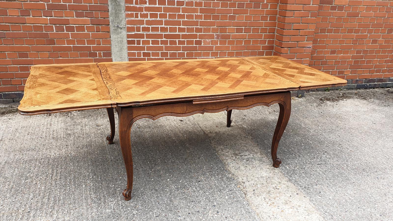 French Oak Drawleaf Table (1 of 1)
