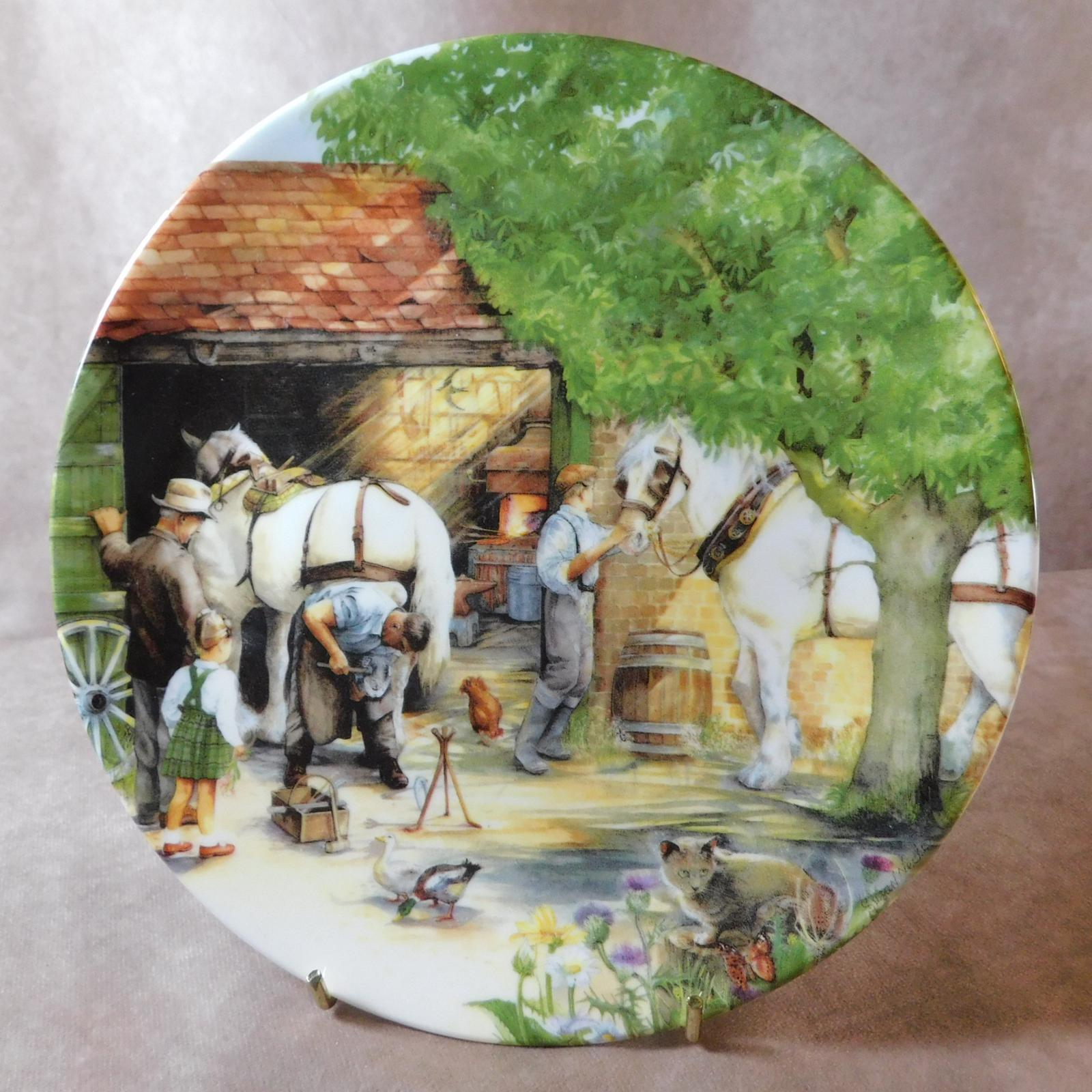"""Royal Doulton """"The Blacksmith"""" Limited Edition Plate (1 of 1)"""