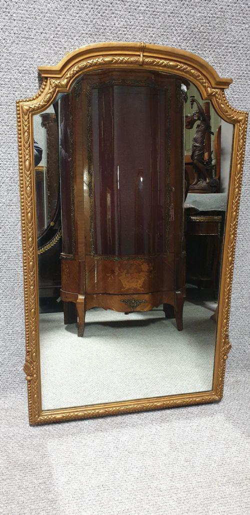 Good English Gilt Arched Top Mirror (1 of 1)