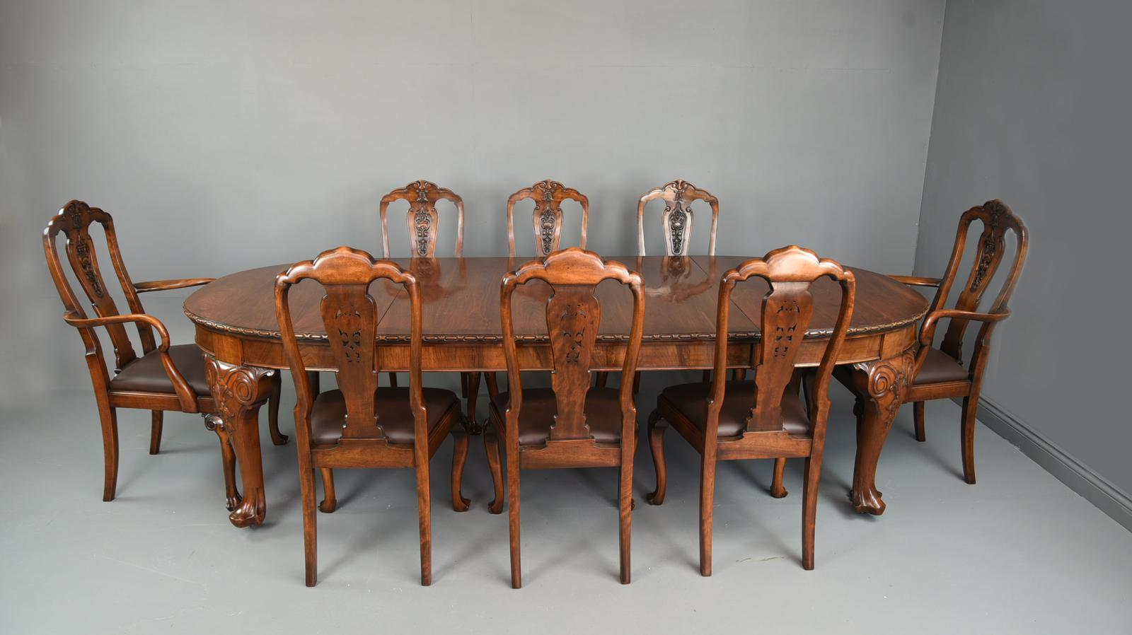 Antique Walnut Dining Suite by S Hille & Co London (1 of 1)
