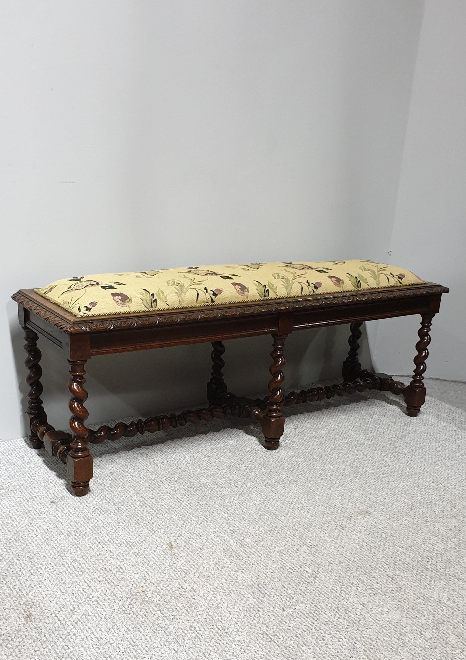 Very Good French Oak Window Seat (1 of 1)