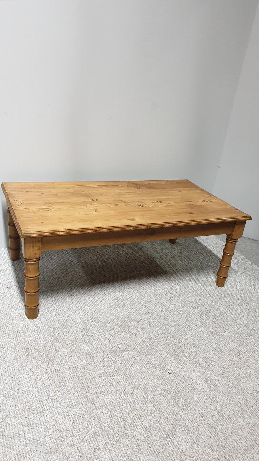 Faux Bamboo Pine Coffee Table (1 of 1)